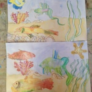 Drawing by a 6 & 7 years old children