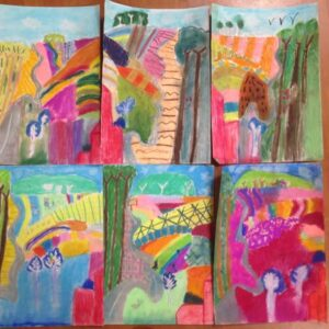 Artworks from weekly art club