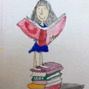 Quentin Blake , Matilda. Made by a 9 years old child