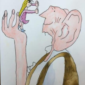 Quentin Blake . Made by a 9 years old child