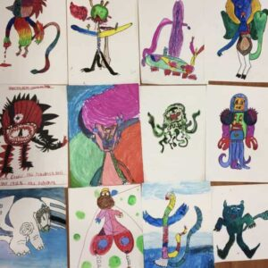 Monsters holiday art club