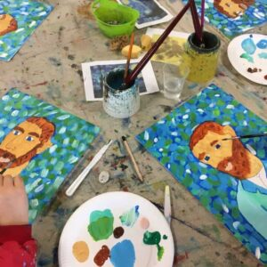Painting Vincent Van Gogh - workshop by Arty Amber